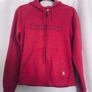 Carhartt Women's Pink Zip Sweatshirt Size M
